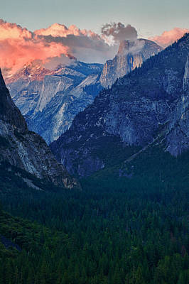 Sunset At Half Dome Poster by Rick Berk