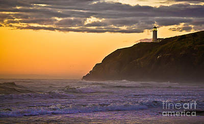 Sunset At North Head II Poster by Robert Bales