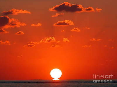 Sunset At Sea Poster by Graham Taylor