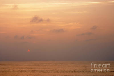 Sunset At Sea Poster by Susan Isakson