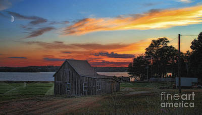 Poster featuring the photograph Sunset At The Bog by Gina Cormier