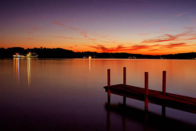 Poster featuring the photograph Sunset At The Dock by Michelle Joseph-Long