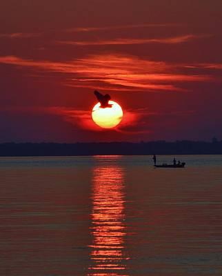 Sunset Fishing Poster by William Bartholomew