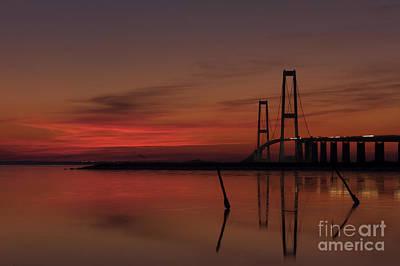 Sunset Great Belt Denmark Poster