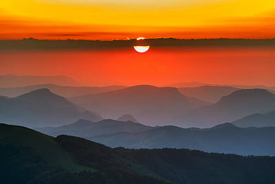 Sunset In Balkans Poster by Evgeni Dinev