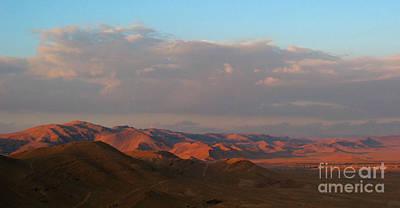 Sunset In The Syrian Desert Poster by Issam Hajjar