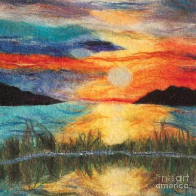 Sunset Loch Poster