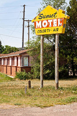 Sunset Motel Poster by Lawrence Burry