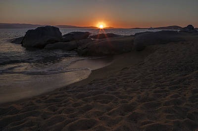 sunset Naxos - Cyclades - Greece Poster by Joana Kruse
