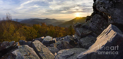 Sunset On Black Rock Mountain Poster