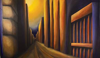 Sunset On De Maisonneuve Poster by Duane Gordon