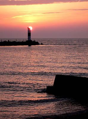 Sunset On Lake Erie Poster