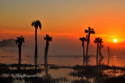 Sunset On Viera Wetlands Poster