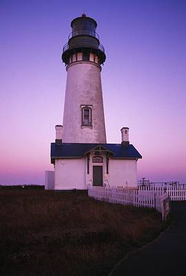 Sunset On Yaquina Head Lighthouse Poster