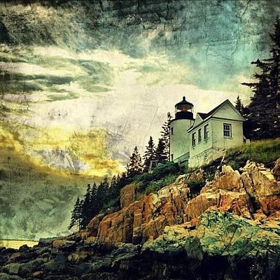 Sunset Over Bass Harbor Lighthouse Poster by Luke Kingma