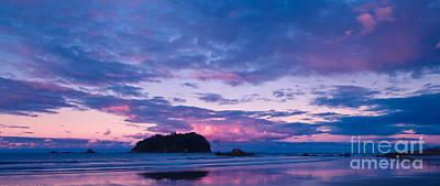 Sunset Over Motuotau Island Poster
