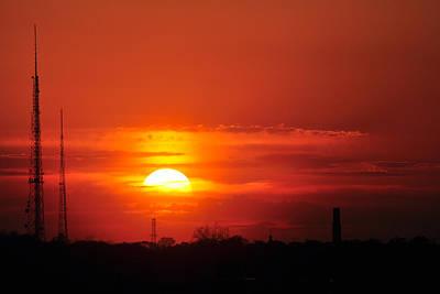 Sunset Over Washington Dc Poster