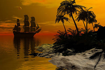 Sunset Passage Poster by Claude McCoy