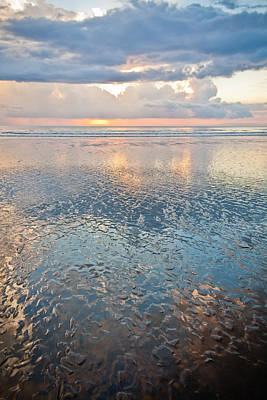 Sunset Reflection - Small Ripples Poster