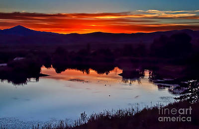 Sunset Reflection Poster by Robert Bales