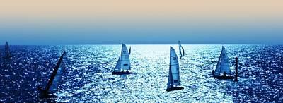 Sunset Sailing Poster by Sharon Lisa Clarke