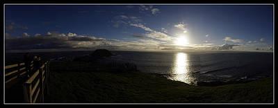 Sunset- Seaside-panorama-001  Poster by Nsir Malik