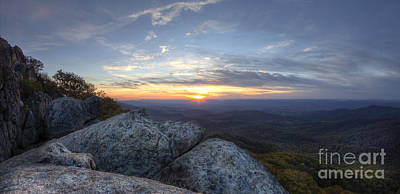Sunset Shenandoah National Park Marys Rock Poster by Dustin K Ryan