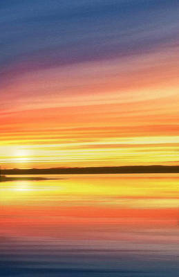 Sunset Stratas Poster