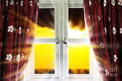 Sunset Through Window Poster by Simon Bratt Photography LRPS