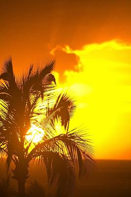 Sunset, Wailea, Maui, Hawaii, Usa Poster by Stuart Westmorland