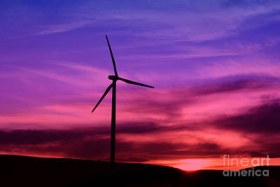 Poster featuring the photograph Sunset Windmill by Alyce Taylor