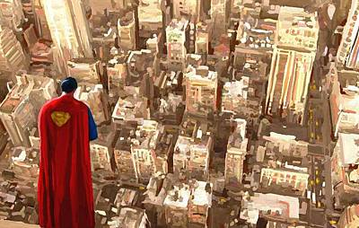 Superman Over Metropolis Signed Prints Available At Laartwork.com Coupon Code Kodak Poster
