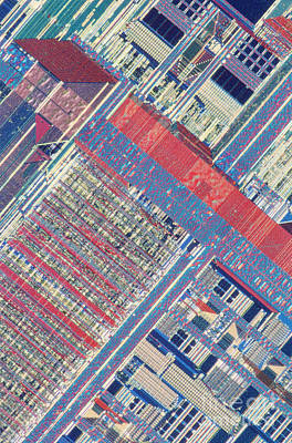 Surface Of Integrated Chip Poster by Michael W. Davidson