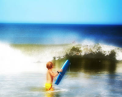 Surfer Boy Poster by Trudy Wilkerson