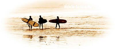 Surfers Poster by Steve McKinzie