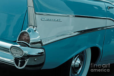 Surfin Chevy Rear Poster by Carl Jackson