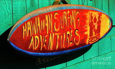 Surfing Adventures Poster by Bob Christopher