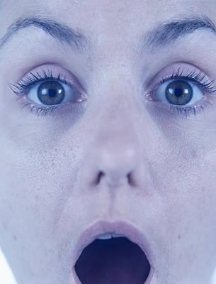 Surprised Woman Poster by Cristina Pedrazzini