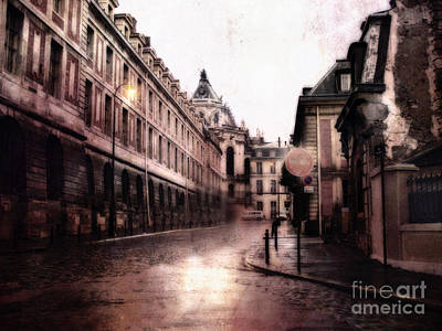 Surreal Dreamy Streets Of Versailles France Poster by Kathy Fornal