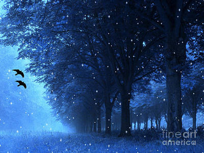 Surreal Fantasy Dreamy Blue Nature Landscape Poster