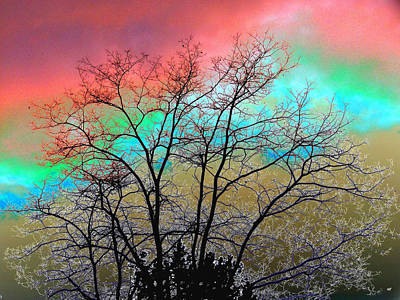 Surreal Winter Sky Poster