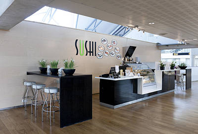 Sushi Bar In Tallinn Airport In Estonia Poster by Jaak Nilson
