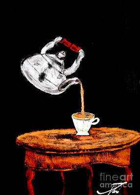 Suspended Teapot 2 Poster by Ayasha Loya