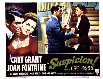 Suspicion, Cary Grant, Joan Fontaine Poster by Everett