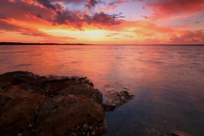 Swan Bay Sunset 2 Poster by Paul Svensen