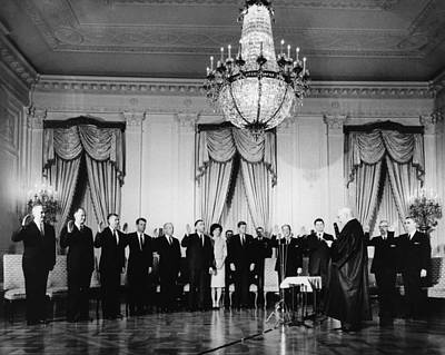 Swearing-in Ceremony Of President Poster by Everett