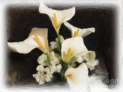 Sweet Calla Lilies Poster