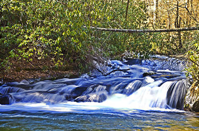 Poster featuring the photograph Swiftly Flowing River by Susan Leggett