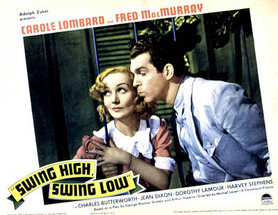 Swing High, Swing Low, Carole Lombard Poster by Everett