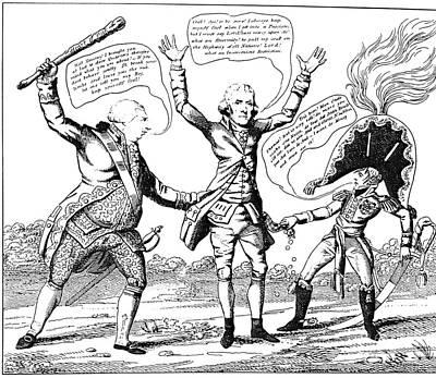 T. Jefferson Cartoon, 1809 Poster